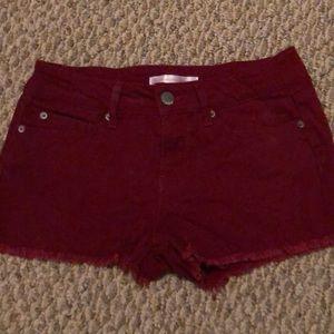 Pants - Cut off Summer Shorts, burgundy